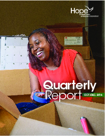 Cover photo for 2016 Fourth Quarter Report