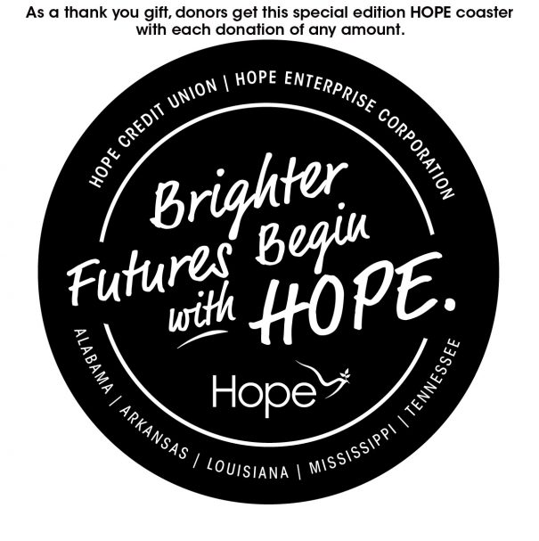 End of Year Giving Campaign - HOPE Coaster--