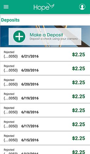 HOPE Mobile - 6.3 - Deposits - History
