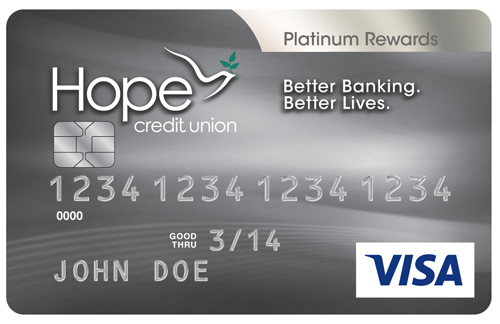 HOPE EMV Platinum Rewards Card